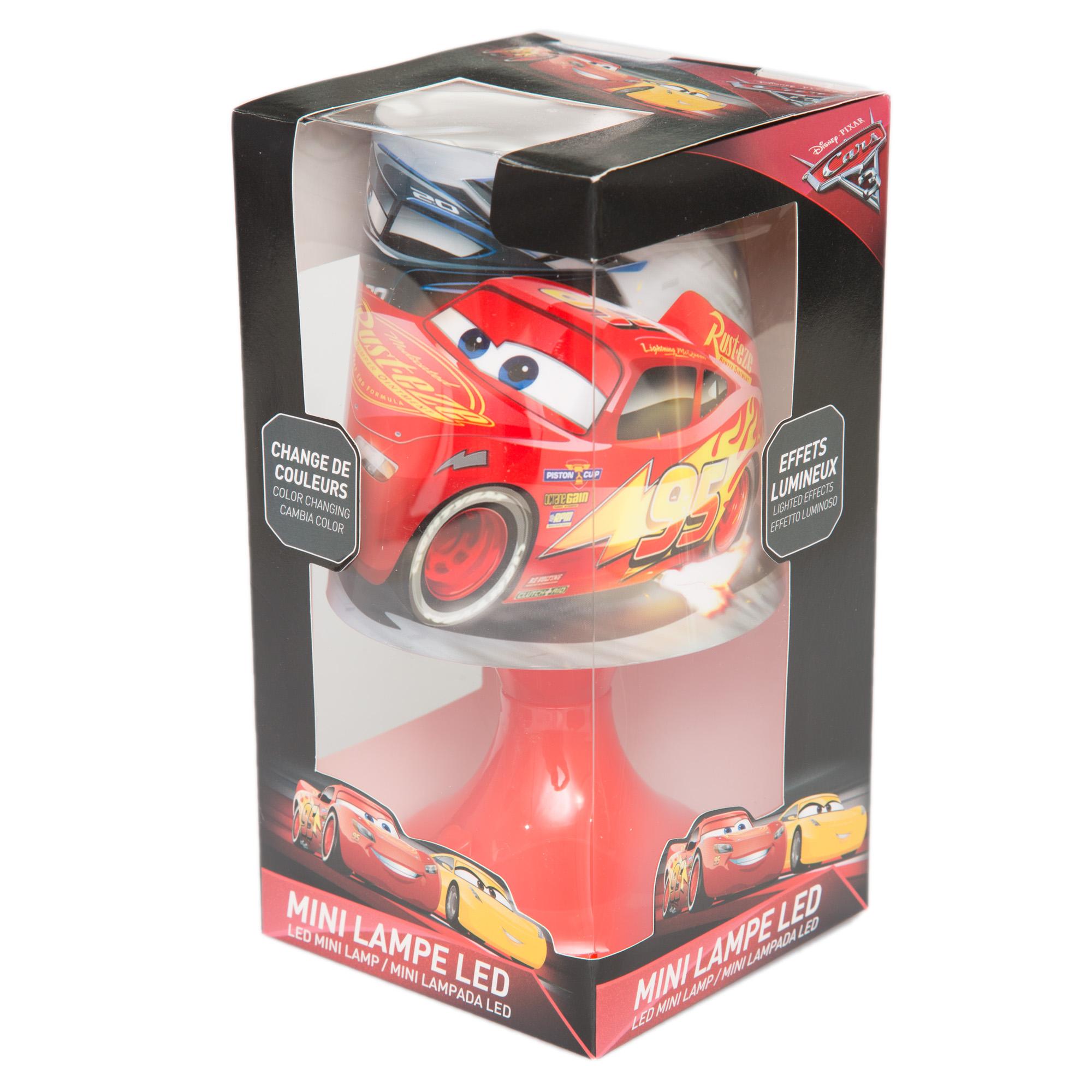 Светильник-ночник настольный светодиодный Тачки Disney (Sun City), LQ2010-red